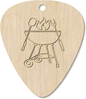 7 x 'BBQ Grill' Guitar Picks / Pendants (GP00020666)