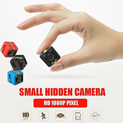 ET SQ11 Micro Camera HD 1080P DV Mini Sport Camera Car DVR Full HD DVR Recorder IR Night Vision Loop Recording (Red)