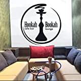 Pegatinas de Pared de salón Citas Calcomanías artísticas de Pared Tienda de cachimba Pegatinas de Vinilo de Pared Cafe Bar Hookah Bar Estantería Patrón