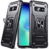 DASFOND Funda Galaxy S10, Funda Protectora de Grado Militar para teléfono con Soporte de Anillo de Metal Reforzado [Soporte de Montaje magnético] Compatible con Samsung Galaxy S10, Negro