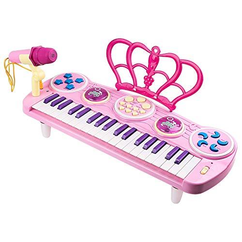 Klavier für Kinder, 37 Tasten Kinder Keyboard mit Mikrofon Spielzeug Klavier Keyboard Spielzeug Multi-Funktion Keyboard für Kinder...
