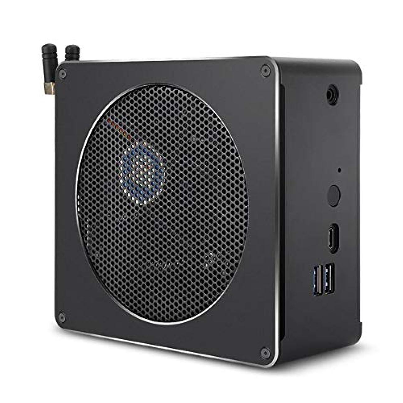 恐ろしいですストレージハドルOOP ギガビットルータ、インテルCore第8世代のファン&アンテナ、サポートのBluetooth 4.2&2.4G / 5.0Gデュアルバンド無線LAN&RJ45ギガビット有線ネットワークカード(ブラック)とi7-8750H 8G + 128G 6つのコア2.2-4.1GHz、ミニPC (色 : Black)