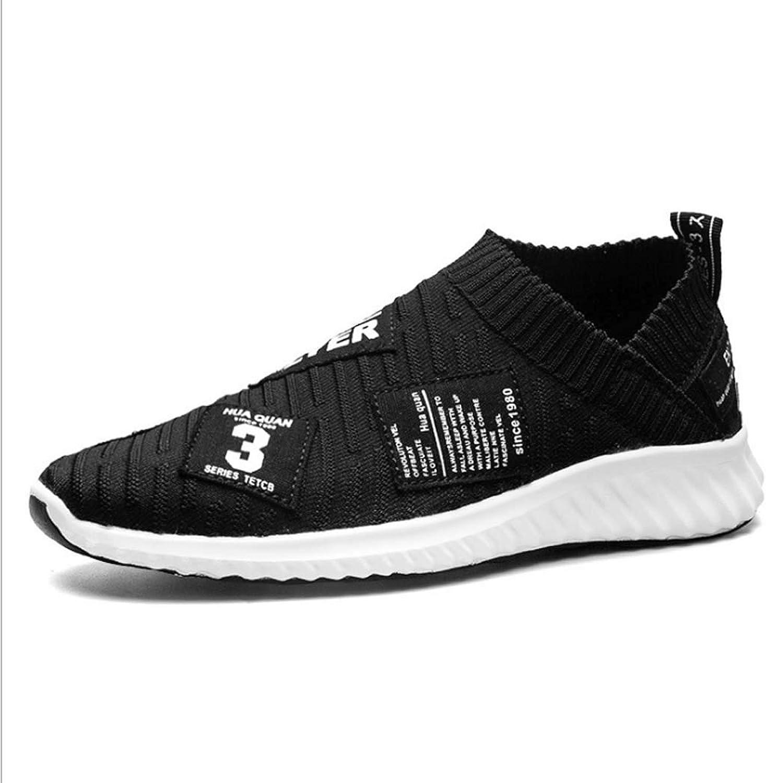 BHPL Sportschuhe, Herrenschuhe, Herrenschuhe, atmungsaktives Stretchmaterial, Fliegende gewebte Schuhe, einbeinige Freizeitschuhe für Herren, Sportschuhe, Laufschuhe,A,44  günstig online