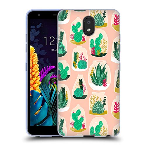 Officiële Andrea Lauren Design Terrarium Plant Patroon Soft Gel Case Compatibel voor LG K30 (2019)