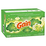 Gain Dryer Sheets Laundry Fabric Softener, Original Scent, 240 Count