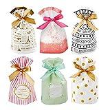 Bolsas de Regalo Set,30pcs Candy Bag, Bolsa de Galletas y Bolsa de Dulces para Boda Regalos Fiesta de Cumpleaños