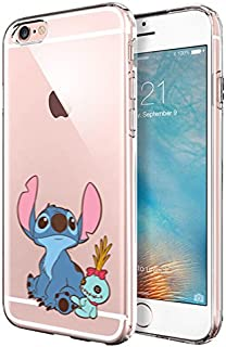 iPhone 6 CASE,iPhone 6S CASE, Stitch Look up to The Sky Cartoon Design 3D Printed Soft Clear TPU Cute Case