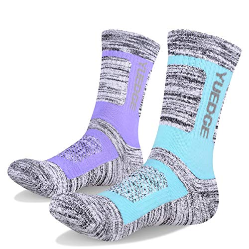 Cushioned Comfortable Fitness Athletic Crew Socks for Outdoor Running Trekking Skiing Sports RedMaple 3 Pairs Camping Hiking Walking Socks for Women