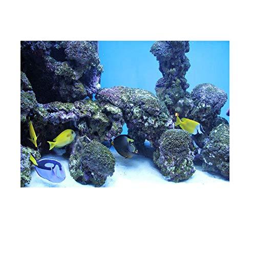 Aquarium Poster Aquarium Rückwandfolie 3D Effekt Aquarium Hintergrund U-Boot Riff Adhesive Aquarium Wanddekorationen Aufkleber Papier(91 * 50cm)