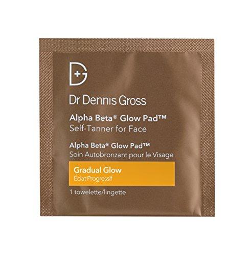 Dr. Dennis Gross Alpha Beta Glow Pad Self-Tanner for Face | Gradual Glow - 20 Towelettes .07 fLoZ /...
