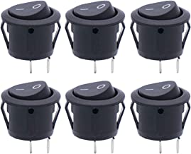 Twidec/6Pcs AC 6A/125V 10A/250V SPST 2 Pins 2 Position On/Off Car Boat Black Rocker Switch Toggle(Quality Assurance for 1 Years)KCD1-5-101