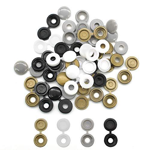 200 piezas de tapa de rosca, tapas de plástico, tapas de rosca, tapas a presión para muebles, gabinetes, armarios, 4 colores