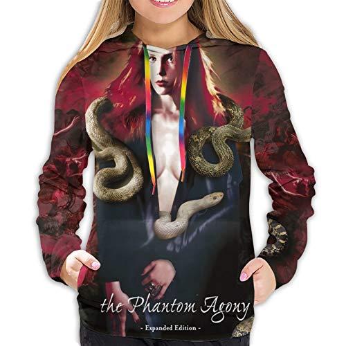 MinnieGCraig Epica The Phantom Agony Women's Hoodie Sweatshirt Sweater Jacket Hooded Shirt Leisure Hoodies X-Large Black