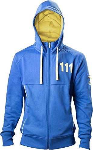 Fallout 4 - 111 Sudadera capucha con cremallera, color azul talla XXL