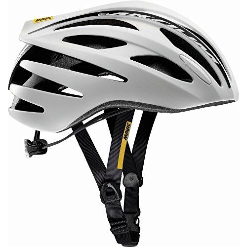 Mavic Aksium Elite Fahrradhelm, Weiß/Schwarz, Größe 54-59cm
