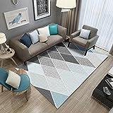 Pgron Home Wohnzimmer TeppichModern Kurzflor Designer Teppich Selbst gemachter rautenförmiger...