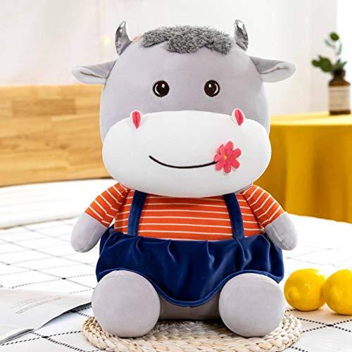 N-B Muñeca de peluche de vaca creativa pareja linda almohada de vaca acostada niña gran regalo de cumpleaños