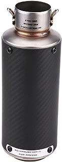 51mm Universal Muffler Silencer Tip Vent Rear Pipe Carbon Fiber Trim Tail Tube Motorcycle Modified Exhaust Muffler Pipe for Kawasaki Honda Yamaha