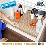 Xtreme Mats Under Sink Kitchen Cabinet Mat, Pick Your Size, CM-36-BEIGE, Fits cabinets with interior dimensions of 34' x 22' or larger