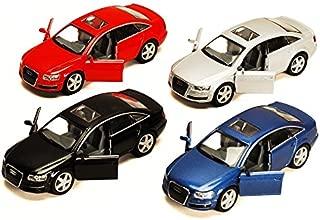 KiNSMART Audi A6, Set of 4 5303D -1/38 Scale Diecast Model Toy Cars