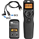 Pixel T9-DC0/DC2 LCD 2.4GHz Wired or Wireless Timer Remote Control for Nikon D300s, D3X, D3, D700, D300, D200xFF0C;D7200, D7100, D7000, D550