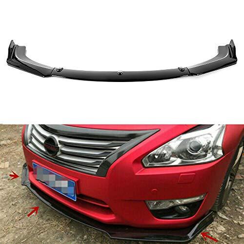 MotorFansClub 3pcs Front Bumper Lip fit for compatible with Nissan Altima 4 Door Sedan 2013-2018 Splitter Trim Protection Spoiler, Black