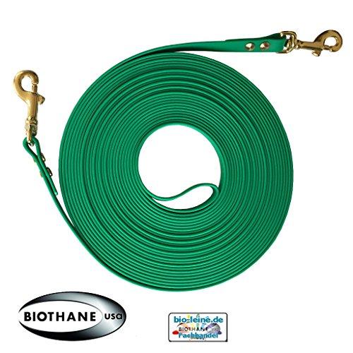 Doppellonge 16 mm aus Beta BioThane 18 Meter lang in Smaragdgrün