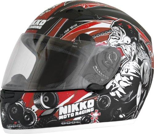 Nikko Helme Raw Nerve N922# 1casco integrale Rosso
