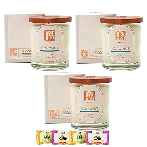 395g DHL EXPRESS Relax Spa AKALIKO Coconut  Skin Care Soy Candle Excellent