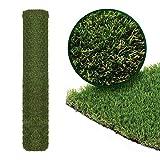 Roots & Shoots - Hierba artificial, 4 m x 1 m 20 mm Pile, césped falso Astro, alfombra de césped al aire libre, césped artificial, verde