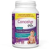 Conceive Plus Fertility Prenatal Vitamins Women – Regulate Ovulation, Monthly Cycles, Balance Hormones - Myo-Inositol, Folate Folic Acid Pills - 60 Vegetarian Soft Capsules