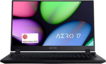 "[2020] Gigabyte AERO 17 HDR KB-8US4130SH Thin and Light Laptop, 17.3"" Thin Bezel UHD HDR 3840x2160, i7-10875H, NVIDIA GeFo..."