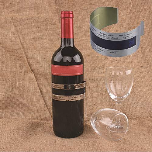 XGQ LCD électrique en Acier Inoxydable Thermomètre à vin numérique
