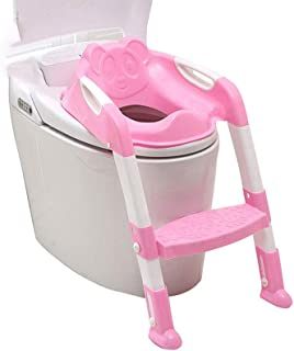 Sumai Potty Training Seat for Kids Toddler Toilet Potty Chair with Sturdy Non-Slip Step Stool Ladder Comfortable Handles a...