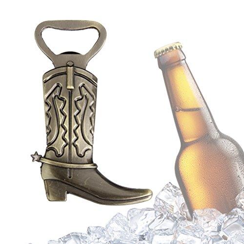 FLAMEER Cowboy Boots Bottle Opener for Opening Beer Bottles for Women Men Gift Small Souvenir Birthday Gift Pendant Ornaments