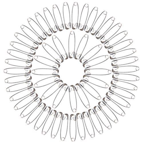 Ruix 1000 Stück Sicherheitsnadeln, 26 mm Sicherheit Pins für Kleidung Handwerk Arts