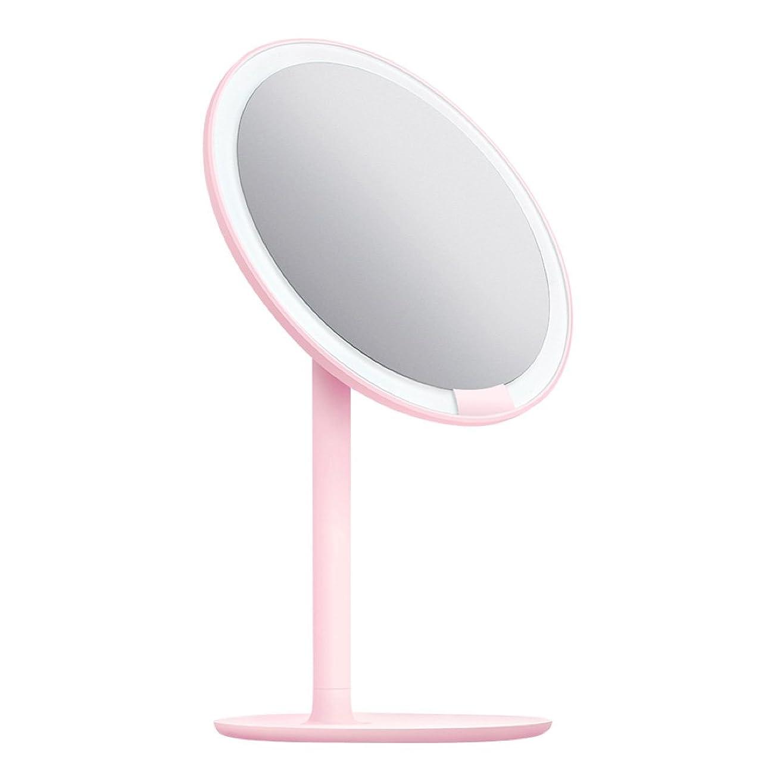 成果地震暴行AMIRO 化粧鏡 化粧ミラー LEDライト付き 卓上鏡 女優ミラー 3段階明るさ調節可能 コードレス 充電式