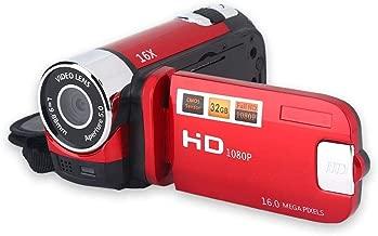 Portable DV Camcorder 1080P Full HD 16MP Digital Video Camera 270° Rotation Screen 16X Digital Zoom Support Night Shoot(Red)