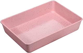Baking Tray, Maifan Stone Non-stick Coating Home Cake Roll Muffin Bread Mould (Color : Pink, Size : 34.6×24.7×6.5cm)