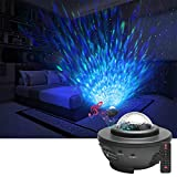 YIFAFA LED Star Projection Night Light, USB Charging 21 Light Modes, Adjustable Brightness with Remote Control, Light Projector with Bluetooth Speaker (Without Battery)