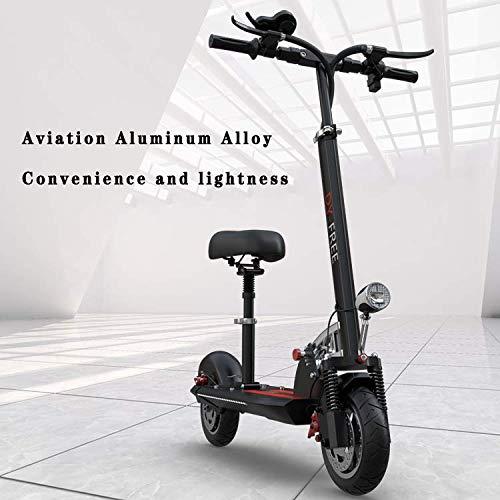 JLWDD elektrische scooter opvouwbare step, 400 watt, borstelloze motor, 25 km/u en 45 km bereik, met leuningbanden, 36 V/10 Ah