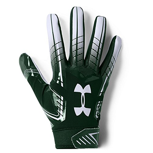 Under Armour mens F6 Football Gloves Forest Green (301)/White Medium