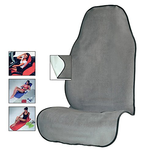 AUTOYOUTH Car Seat Cover Yoga Sweat Towel Seat Mat for Fitness, Gym, Running, Crossfit Workout, Beach Microfiber Auto Seat Protector Quick-Dry - 1PC, Gray
