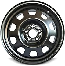 Road Ready Car Wheel For 2011-2014 Chrysler 200 2008-2014 Dodge Avenger 17 Inch 5 Lug Black Steel Rim Fits R17 Tire - Exact OEM Replacement - Full-Size Spare