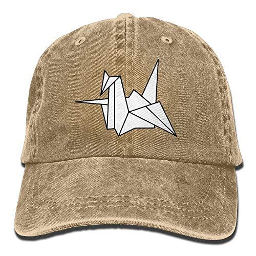 xinfub Gorra de béisbol Unisex Sombrero de Tela de Mezclilla Origami Crane...