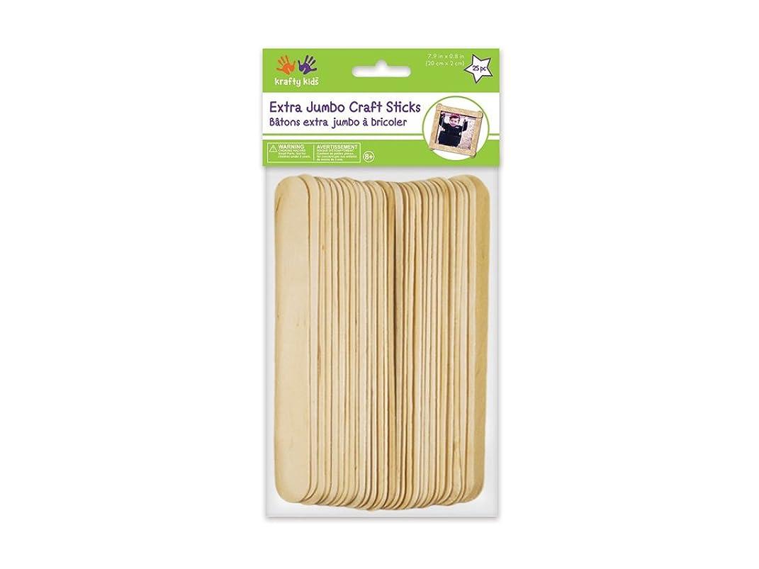 Extra Jumbo Craft Sticks-Natural 7.9 inch x 0.8 inch 25/Pk