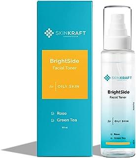 SkinKraft BrightSide Facial Toner - Customized Brightening Toner - For Oily Skin - Removes Excess Sebum - Promotes Collage...