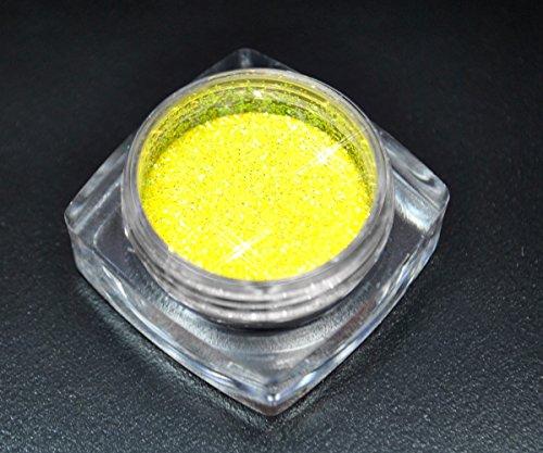 Premium Glitzer Glitter Puder Gelb Lemone für Nailart