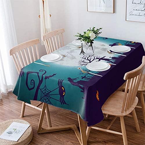 Super-cheap MuswannaA Genuine Free Shipping Rectangular Polyester Tablecloth Halloween Dark Happy