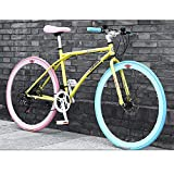 YXWJ 24/26 pulgadas de carbono de bicicletas de montaña bicicletas de acero marco de una velocidad 24 de aleación de aluminio de bicicletas de montaña mecánico doble freno de disco de bicicletas for l